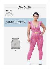Bodysuit og mini-skørt. Simplicity 9150.