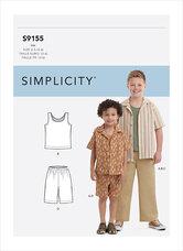 Top og bukser til drenge. Simplicity 9155.