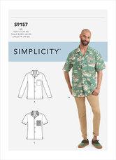 Kortærmet skjorte til mænd. Simplicity 9157.
