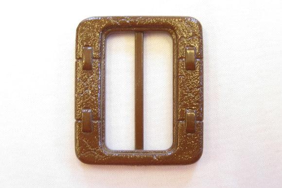 Brunt plast bæltespænde bæltebredde 4 og 5 cm
