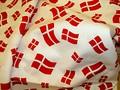 Fødselsdagsbomuld med danske flag..