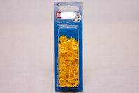 Gule plastictrykknapper ø 12,4 mm