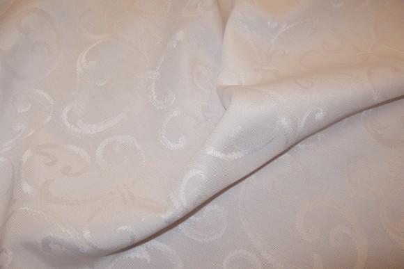 Hvid, jacquardvæv til duge og gardiner