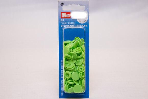 Lysegrønne plastictrykknapper ø 12,4 mm