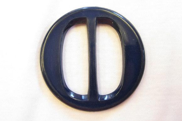 Marineblå plastbæltespænde bæltebredde 3,8cm