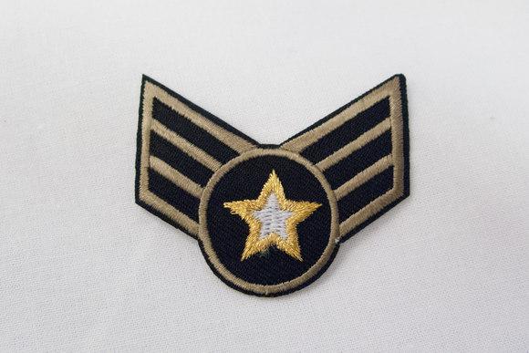Militær motiv m stjerne 4x5cm