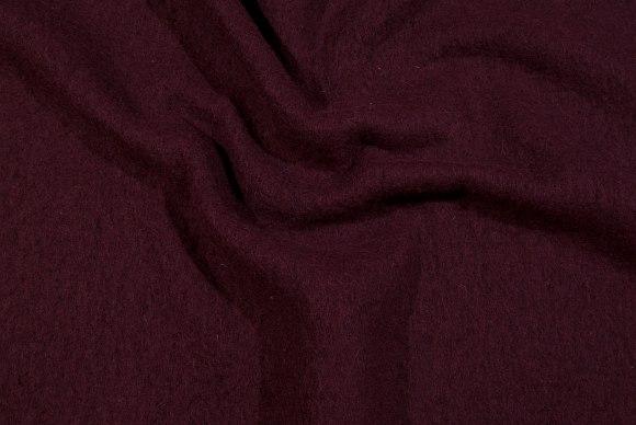 Mørk Bordeaux, filtet uld i klassisk, elegant kvalitet