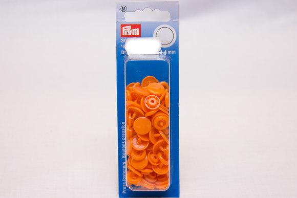 Orange plastictrykknapper ø 12,4 mm