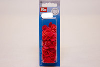 Røde plastictrykknapper ø 12,4 mm