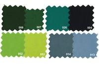 Sanforbomuld-økotex i grønne farver
