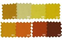 Sanforbomuld-økotex i gule nuancer