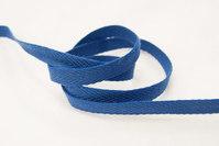 Sildebensvævet bomuldsbånd blå 1cm
