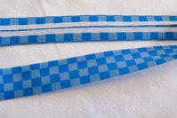 Skråbånd blå-blå tern, 2cm