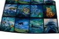 Meget flotte blå nuancer. Sælges i rapporter a 30 cm. Der er 4 motiver på en række til kr. 45,-. Hvis man ønsker alle 8 motiver skal der købes 2 rækker