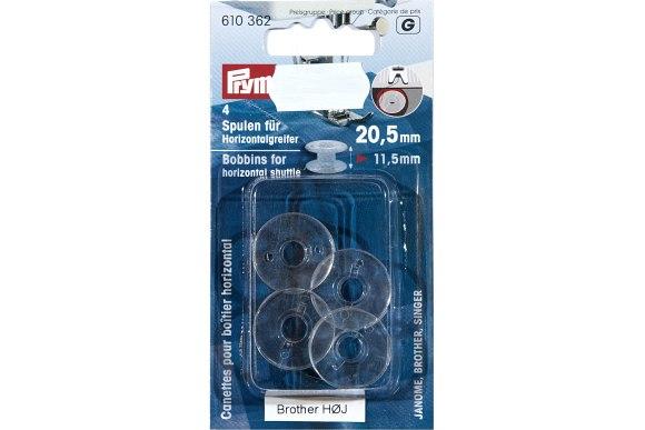 Symaskinespoler til Brother symaskiner, 4 stk, 20,5 x 11,5 mm