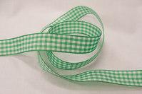 Taftbånd ternet grønt 16 mm