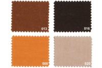 Texgard imprægneret markisestof ensfarvet, brune nuancer