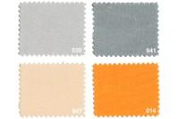 Texgard imprægneret markisestof ensfarvet, grå-orange nuancer