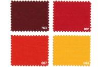 Texgard imprægneret markisestof ensfarvet, røde nuancer