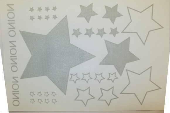 Onion stryg-på stjerner i sølv