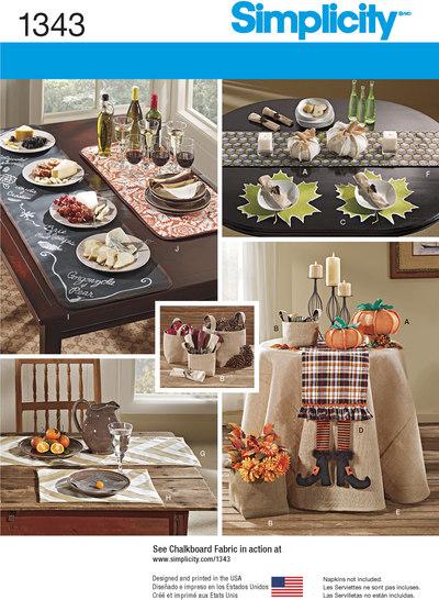 Tilbehør til bordet, dækkeservietter, bordløber