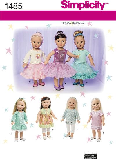 Tøj til 45 cm dukke med variationer