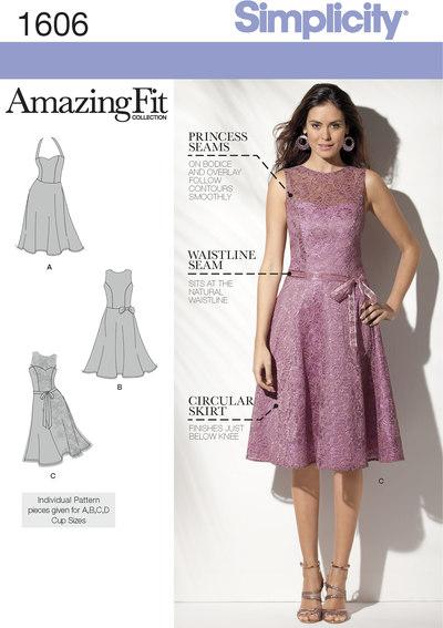 Smuk figursyet, knælang kjole