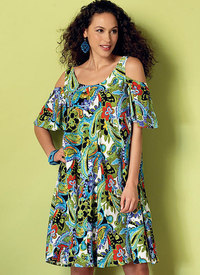 Sleeveless and Cold-Shoulder Tent Dresses. Butterick 6350.