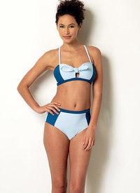 Bundet bikini og one-piece svømmedragt. Butterick 6358.