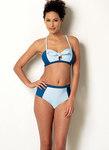 Butterick 6358. Bundet bikini og one-piece svømmedragt.