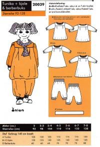 Tunika, kjole og berberbuks. Onion 20039.