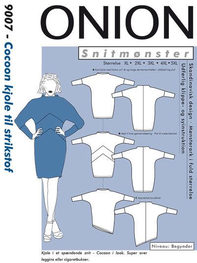 Cocoon kjole til strikstof