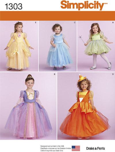 Kjoler, prinsessekjole til småbørn