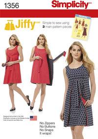 Jiffy reversibel kjole. Simplicity 1356.
