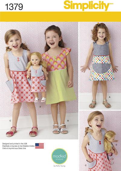 Kjole til pige og dukke