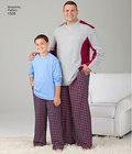 Bluse og bukser til store og høje mænd