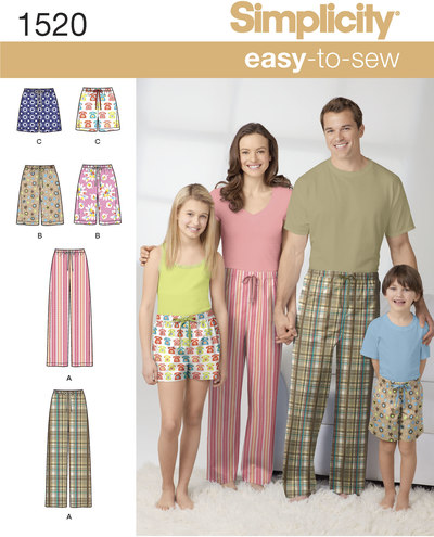 Bukser og shorts, nattøj, pyjamastøj