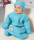 Fleecedragt og hat til baby