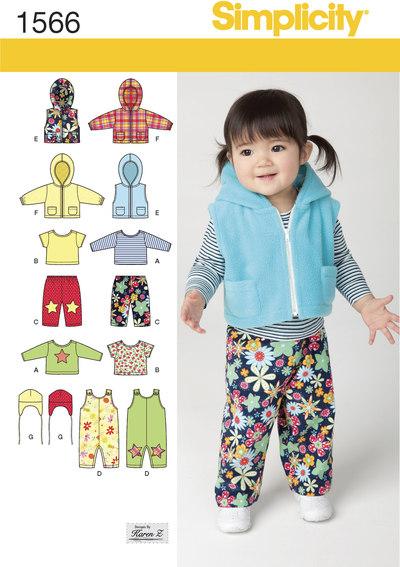 Vest, bukser, hat m.m. til småbørn