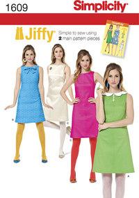 1960 retro jiffy kjoler. Simplicity 1609.