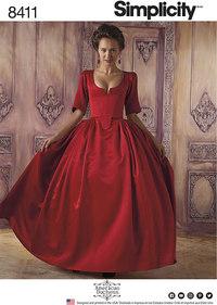 18th århundrede kostume. Simplicity 8411.