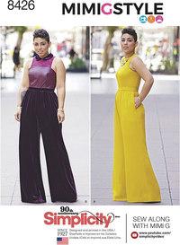 Plus size jumpsuit by Mimi G. Simplicity 8426.