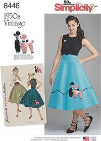 Vintage nederdel og butterfly. Simplicity 8446.