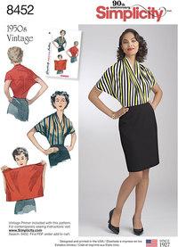 Vintage bluse-skjorte. Simplicity 8452.