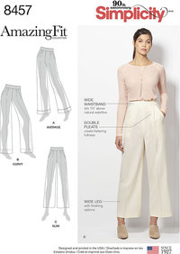 Bukser med fantastisk pasform. Simplicity 8457.