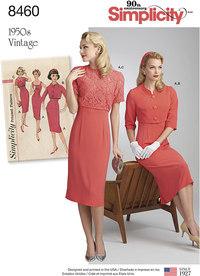 Vintage kjole og jakker. Simplicity 8460.