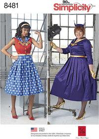 Rockabilly kjoler. Simplicity 8481.