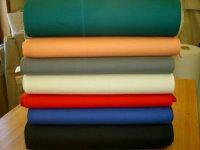 Ensfarvet liggestolestof