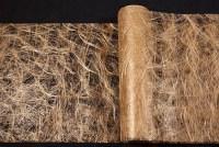 Gylden festremse løberstof i hårlignende polyesternet