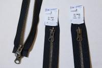 Jakkelynlås, 2-vejs, delbar, oxyderet metal, 6 mm bred, 80 cm lang